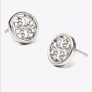 TORY BURCH Silver Miller Stud Earring